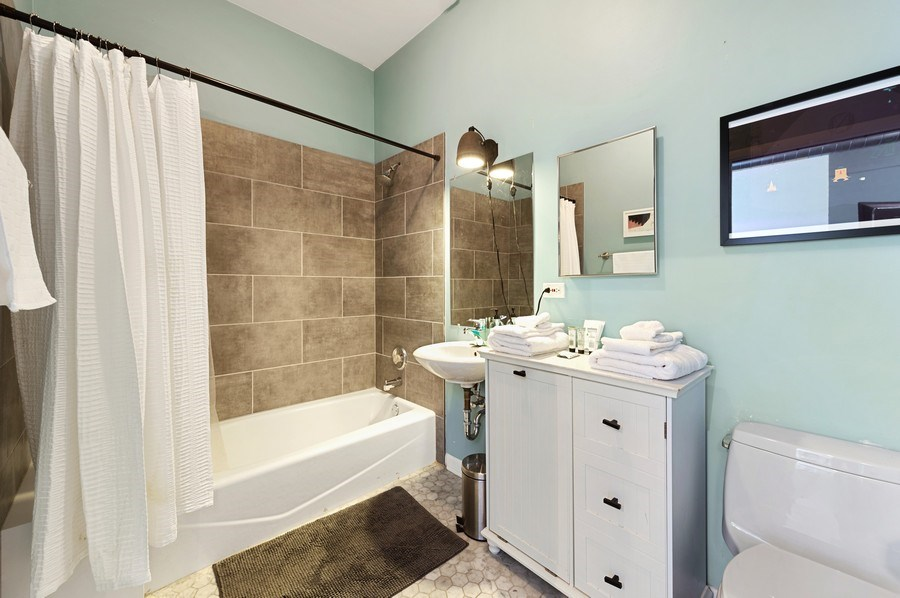 Real Estate Photography - 2418 W Bloomingdale Avenue, Unit 102, Chicago, IL, 60647 - Bathroom