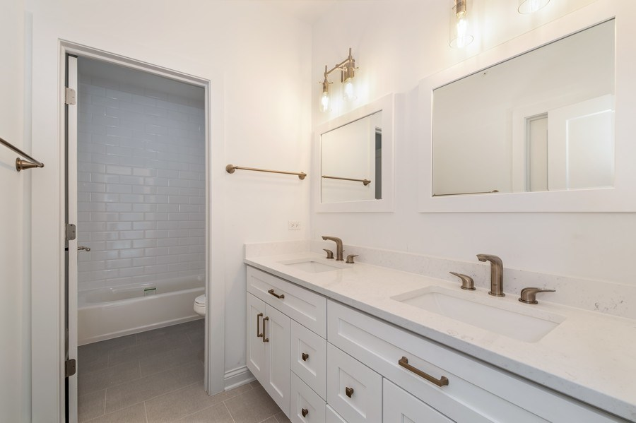 Real Estate Photography - 1110 Manor Dr, Wilmette, IL, 60091 - 3rd Bathroom