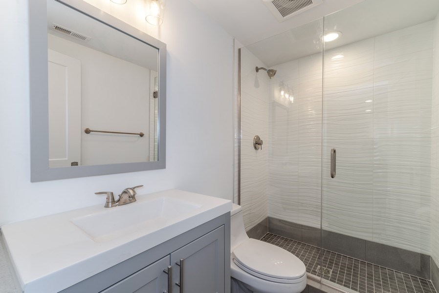 Real Estate Photography - 1110 Manor Dr, Wilmette, IL, 60091 - 2nd Bathroom