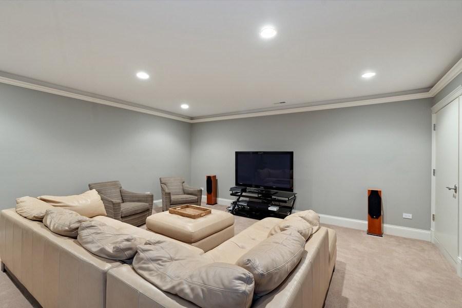 Real Estate Photography - 323 Thackeray, Northfield, IL, 60093 - Media Room