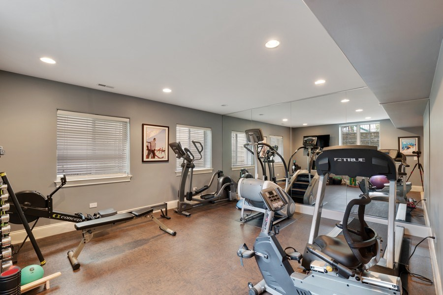 Real Estate Photography - 323 Thackeray, Northfield, IL, 60093 - Exercise Room
