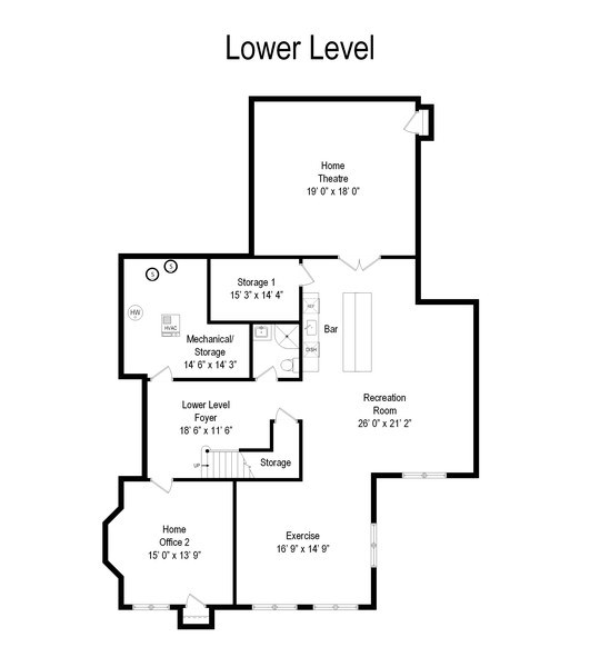 Real Estate Photography - 323 Thackeray, Northfield, IL, 60093 - Floor Plan