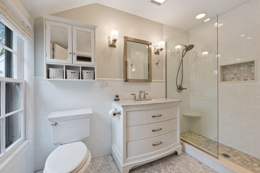 Real Estate Photography - 1156 Cherry, Winnetka, IL, 60093 - Master Bathroom