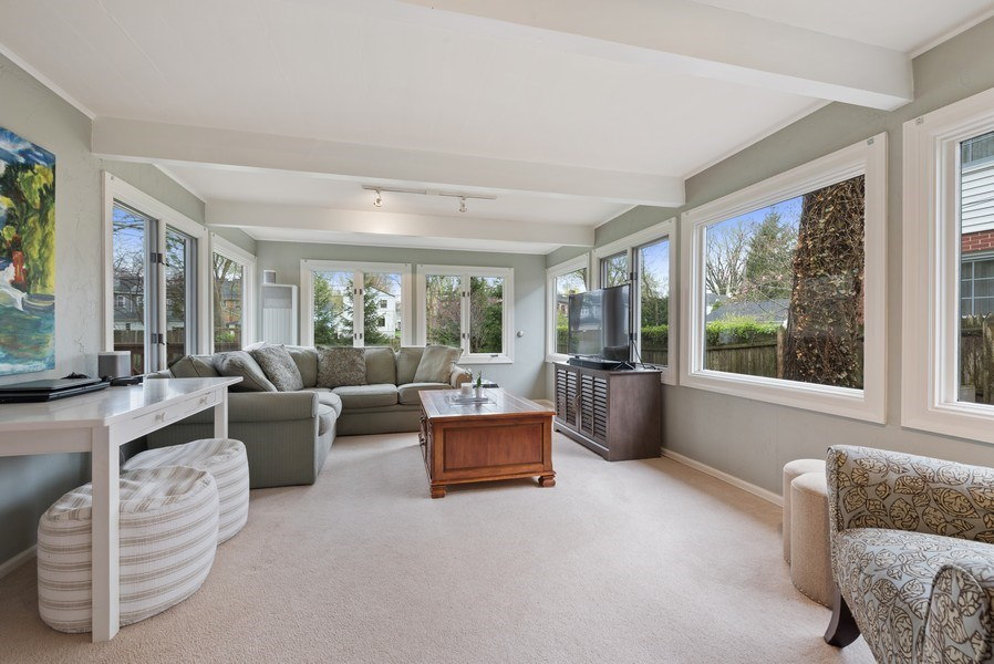 Real Estate Photography - 1156 Cherry, Winnetka, IL, 60093 - Family Room