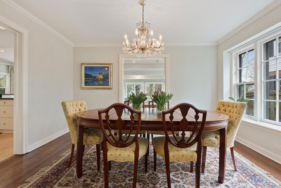 Real Estate Photography - 1156 Cherry, Winnetka, IL, 60093 - Dining Area