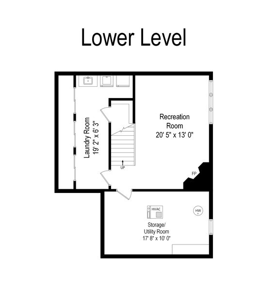 Real Estate Photography - 1156 Cherry, Winnetka, IL, 60093 - Floor Plan