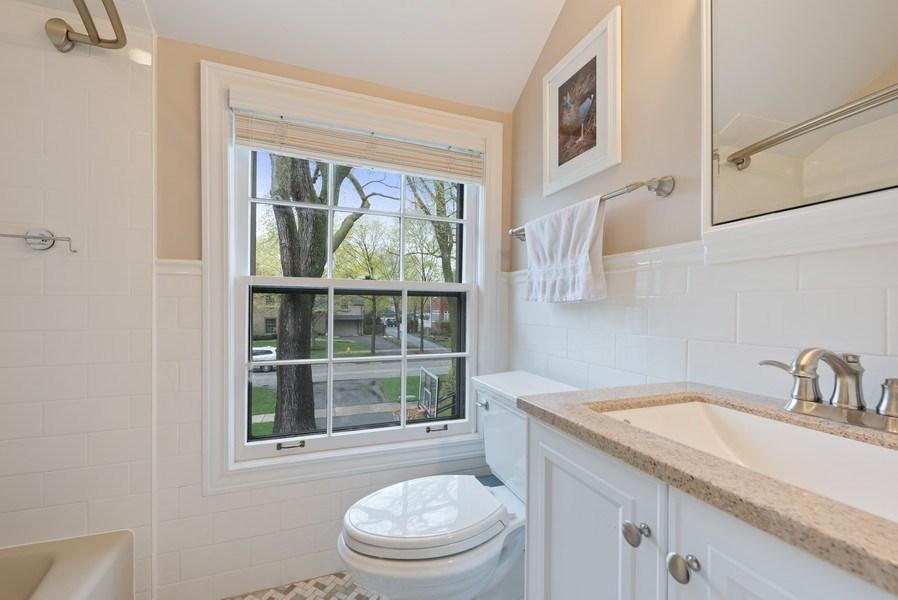 Real Estate Photography - 1156 Cherry, Winnetka, IL, 60093 - 2nd Floor Bathroom