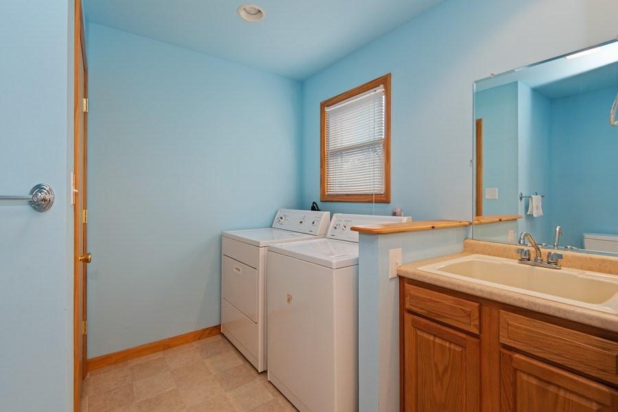 Real Estate Photography - 6446 W Hagar Shore Rd, Coloma, MI, 49038 - Laundry Room