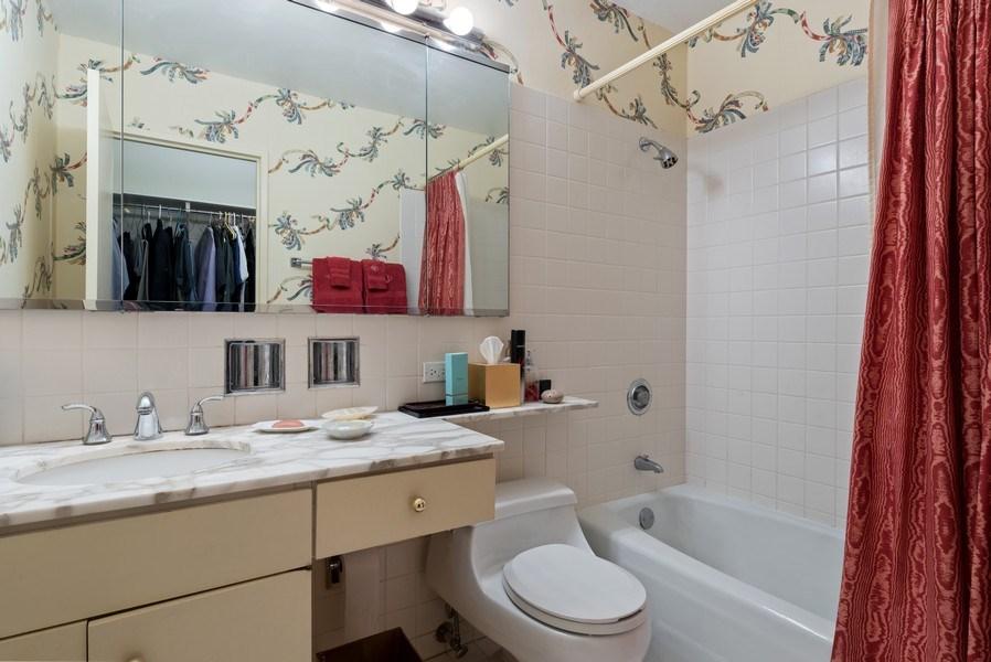 Real Estate Photography - 100 E Bellevue, 22C, Chicago, IL, 60611 - Master Bathroom