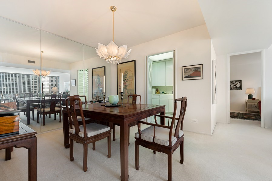 Real Estate Photography - 100 E Bellevue, 22C, Chicago, IL, 60611 - Dining Room