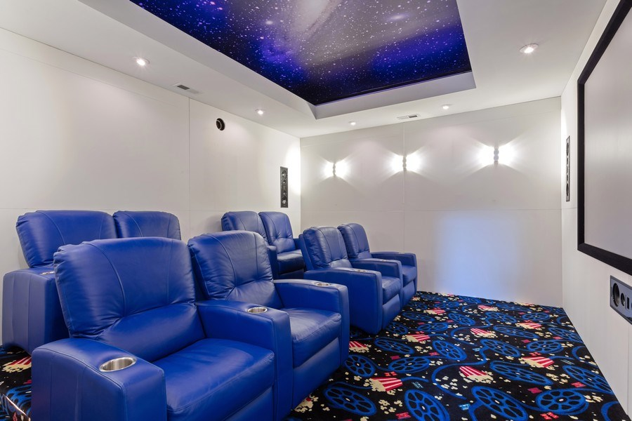 Real Estate Photography - 1627 N Wolcott, Chicago, IL, 60622 - Theater Room