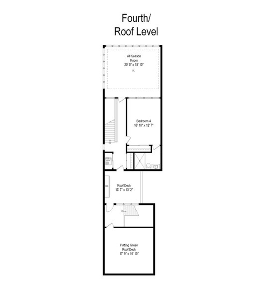 Real Estate Photography - 1627 N Wolcott, Chicago, IL, 60622 - Floor Plan