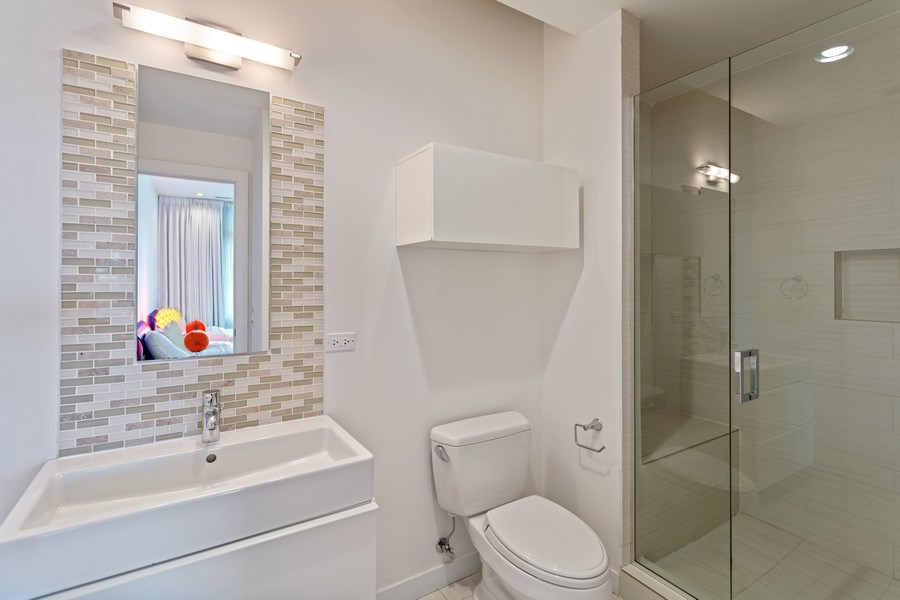 Real Estate Photography - 1627 N Wolcott, Chicago, IL, 60622 - Bathroom