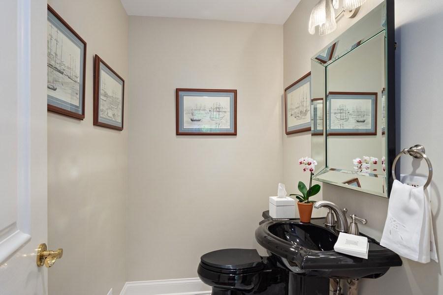 Real Estate Photography - 306 Ridge Road, Barrington Hills, IL, 60010 - Powder Room
