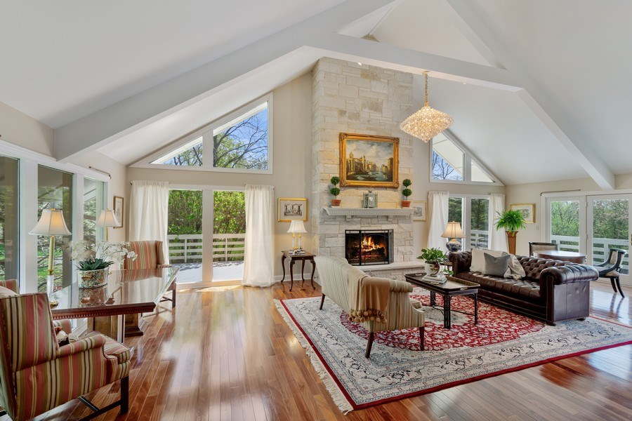Real Estate Photography - 306 Ridge Road, Barrington Hills, IL, 60010 - Great Room