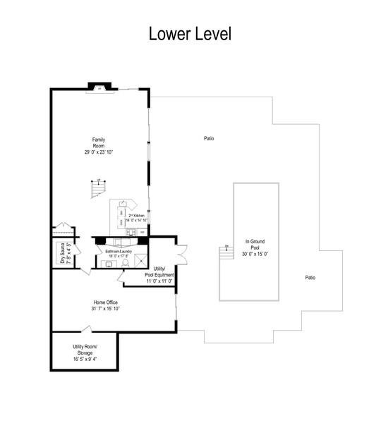 Real Estate Photography - 306 Ridge Road, Barrington Hills, IL, 60010 - Floor Plan