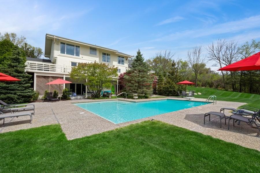 Real Estate Photography - 306 Ridge Road, Barrington Hills, IL, 60010 - Rear View