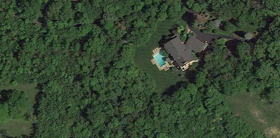 Real Estate Photography - 306 Ridge Road, Barrington Hills, IL, 60010 - Aerial View
