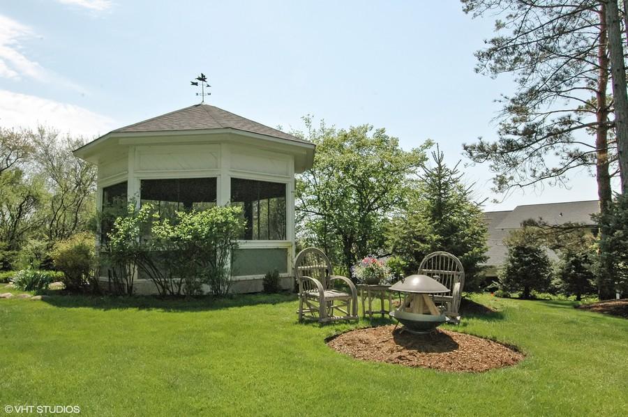 Real Estate Photography - 306 Ridge Road, Barrington Hills, IL, 60010 - Front Gazebo
