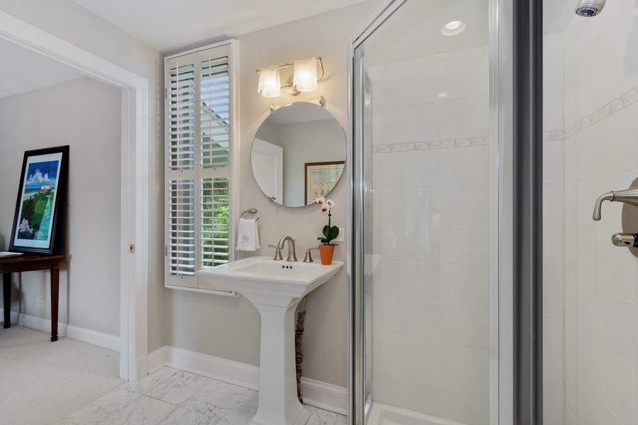 Real Estate Photography - 306 Ridge Road, Barrington Hills, IL, 60010 - First Floor Bathroom