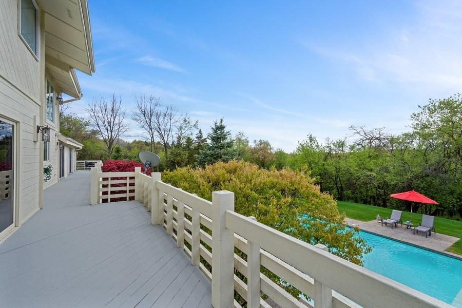 Real Estate Photography - 306 Ridge Road, Barrington Hills, IL, 60010 - Deck