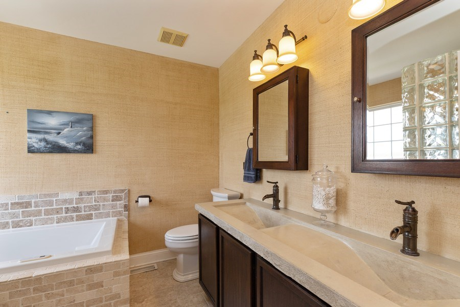 Real Estate Photography - 1655 Forest View Way, Antioch, IL, 60002 - Master Bathroom