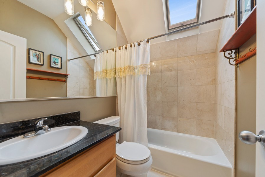 Real Estate Photography - 1347 N. Greenview, #3F, Chicago, IL, 60642 - Master Bathroom