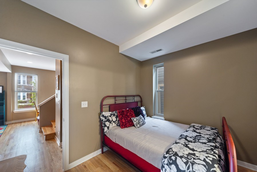 Real Estate Photography - 1347 N. Greenview, #3F, Chicago, IL, 60642 - Second Bedroom