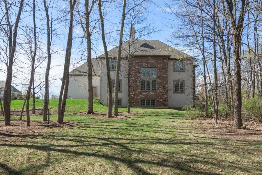 Real Estate Photography - 6 Scarlet Oak, Hawthorn Woods, IL, 60047 - Rear View