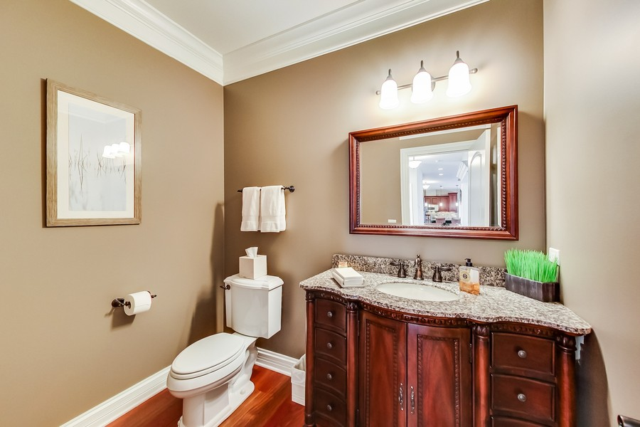 Real Estate Photography - 6 Scarlet Oak, Hawthorn Woods, IL, 60047 - Powder Room