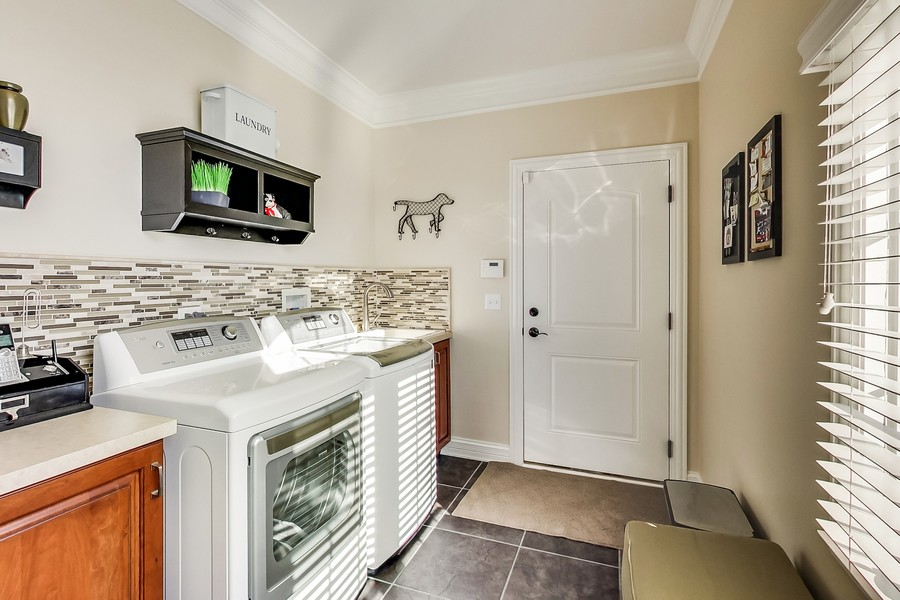 Real Estate Photography - 6 Scarlet Oak, Hawthorn Woods, IL, 60047 - 1st Floor Laundry