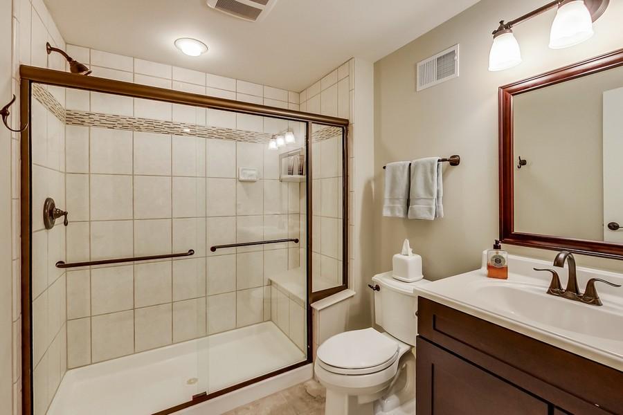 Real Estate Photography - 6 Scarlet Oak, Hawthorn Woods, IL, 60047 - Lower Level Full Bath