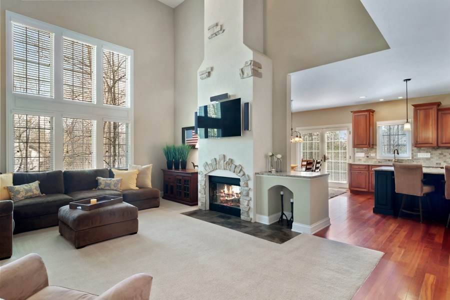 Real Estate Photography - 6 Scarlet Oak, Hawthorn Woods, IL, 60047 - Family Room / Kitchen