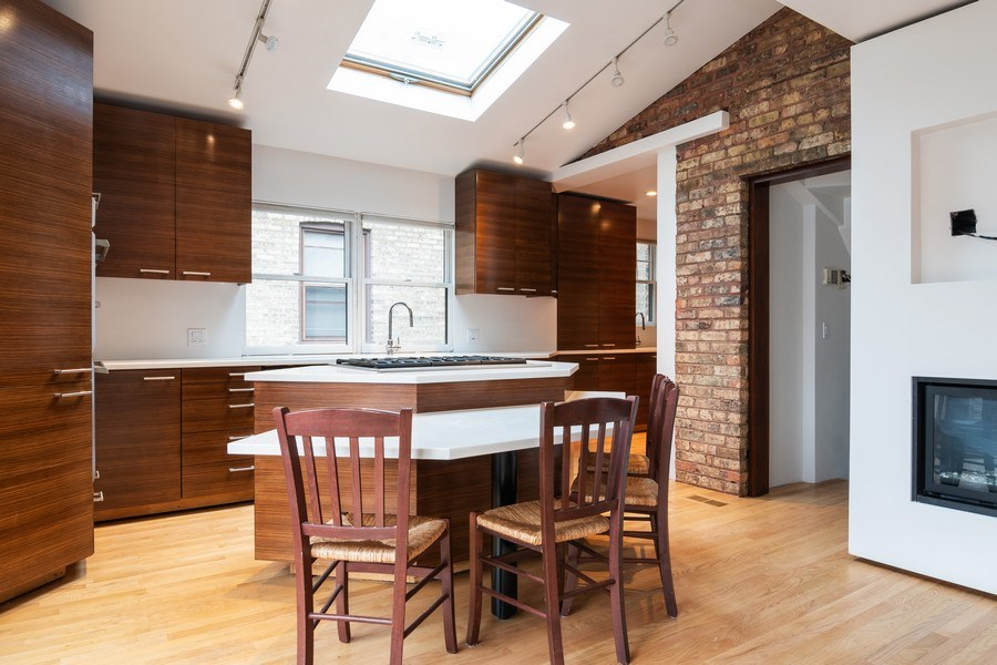 Real Estate Photography - 6348 W. Hyacinth St., Chicago, IL, 60646 - Kitchen / Breakfast Room