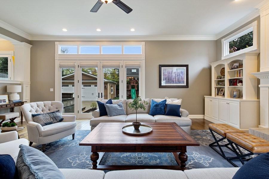 Real Estate Photography - 487 S Arlington, Elmhurst, IL, 60126 - Family Room