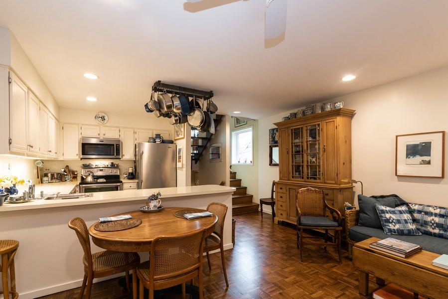 Real Estate Photography - 1215 Central Street #A, Evanston, IL, 60201 - Family Room / Kitchen