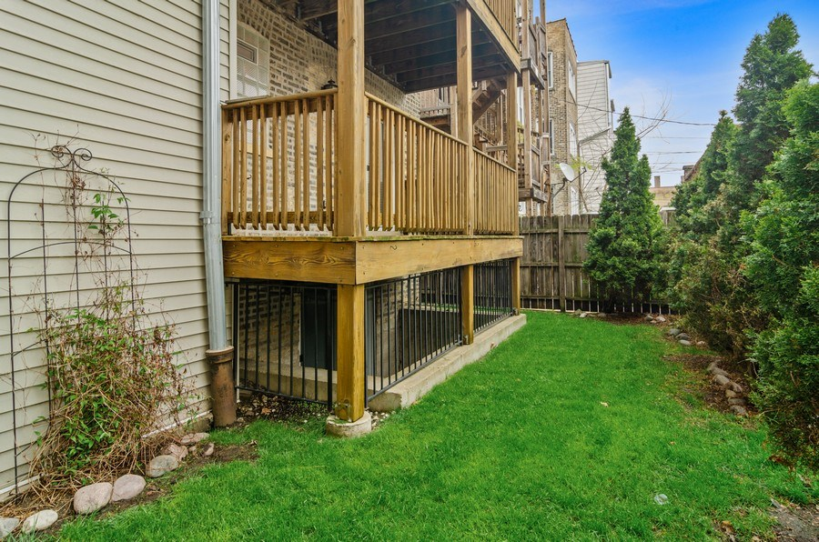 Real Estate Photography - 2055 W Farragut Ave Unit 1, Chicago, IL, 60625 - Back Yard