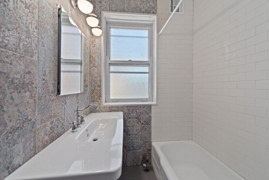 Real Estate Photography - 5901 N. Kenmore Ave. #3, Chicago, IL, 60660 - 4th Bathroom