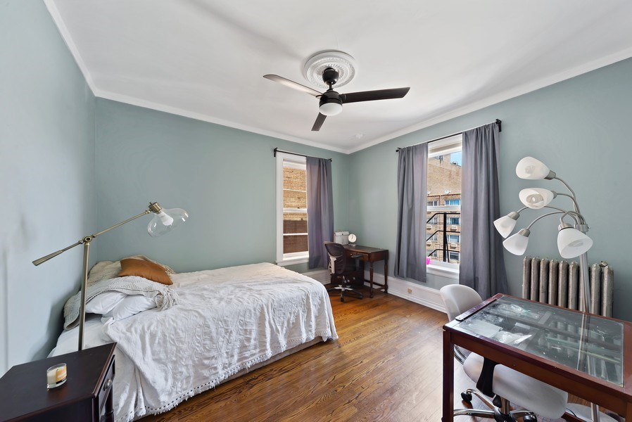 Real Estate Photography - 5901 N. Kenmore Ave. #3, Chicago, IL, 60660 - 4th Bedroom