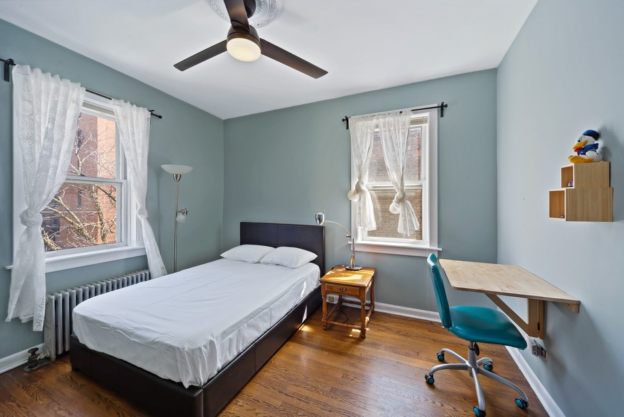 Real Estate Photography - 5901 N. Kenmore Ave. #3, Chicago, IL, 60660 - 3rd Bedroom