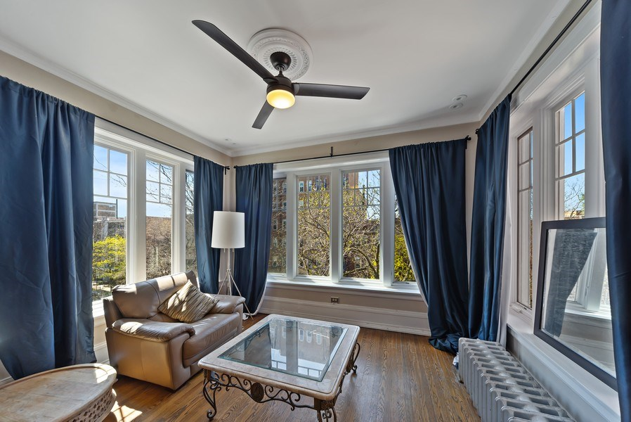Real Estate Photography - 5901 N. Kenmore Ave. #3, Chicago, IL, 60660 - Sun Room