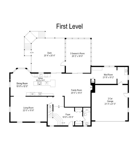 Real Estate Photography - 415 N Valley Rd, Barrington, IL, 60010 - Floor Plan