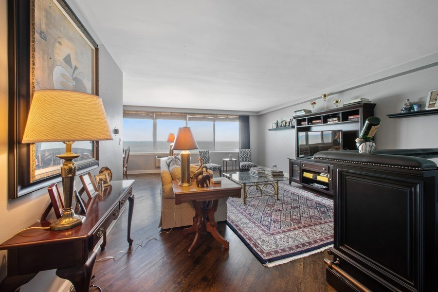 Real Estate Photography - 1440 Lake Shore Drive, 14A, Chicago, IL, 60610 - Living Room