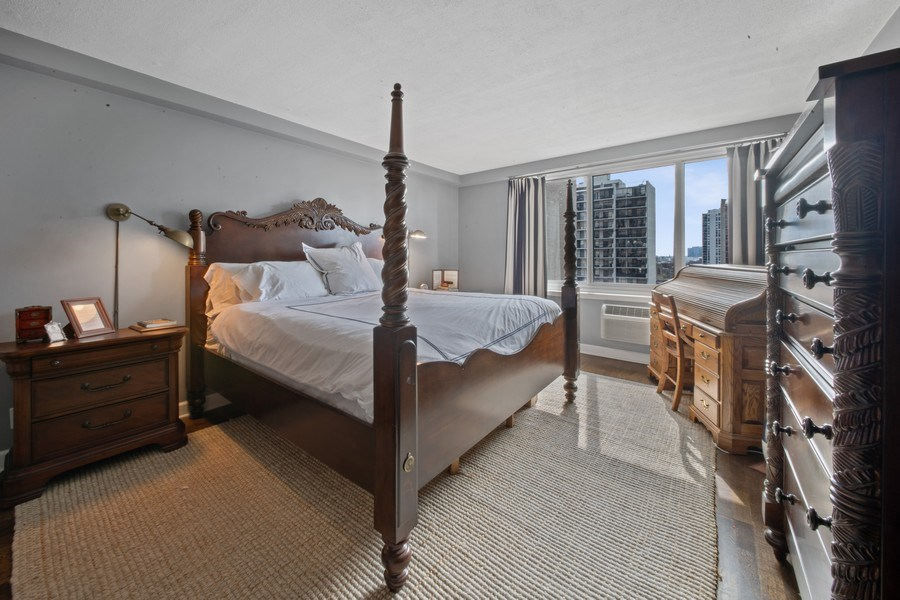 Real Estate Photography - 1440 Lake Shore Drive, 14A, Chicago, IL, 60610 - Master Bedroom