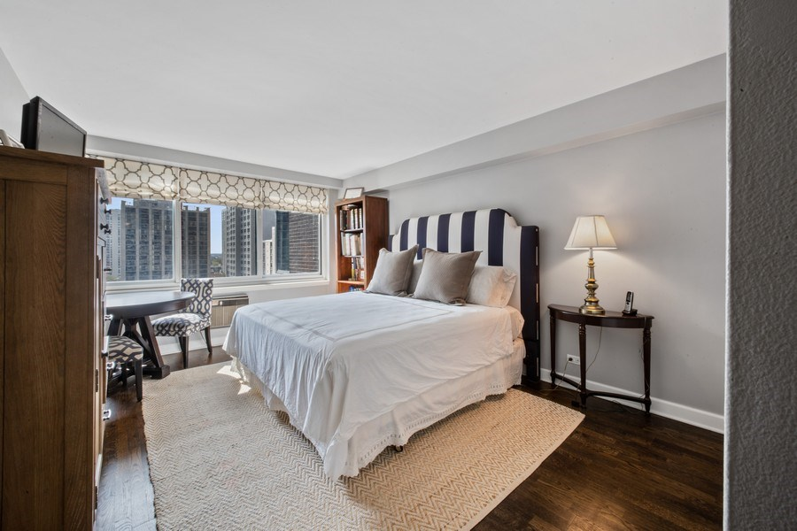 Real Estate Photography - 1440 Lake Shore Drive, 14A, Chicago, IL, 60610 - Bedroom