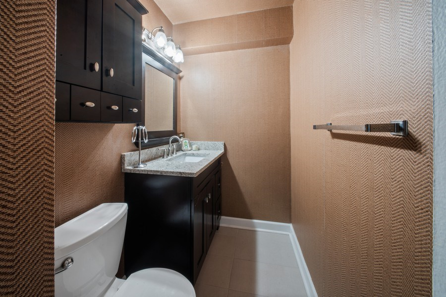 Real Estate Photography - 1440 Lake Shore Drive, 14A, Chicago, IL, 60610 - Powder Room