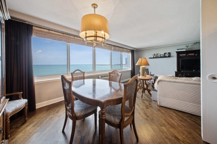 Real Estate Photography - 1440 Lake Shore Drive, 14A, Chicago, IL, 60610 - Dining Area