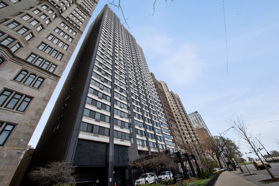 Real Estate Photography - 1440 Lake Shore Drive, 14A, Chicago, IL, 60610 - Front View