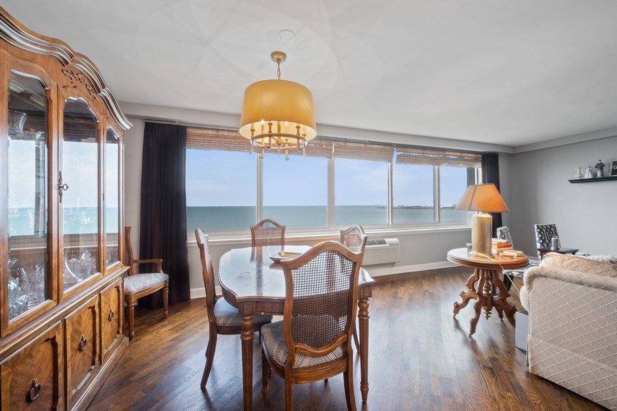 Real Estate Photography - 1440 Lake Shore Drive, 14A, Chicago, IL, 60610 - Living Room/Dining Room
