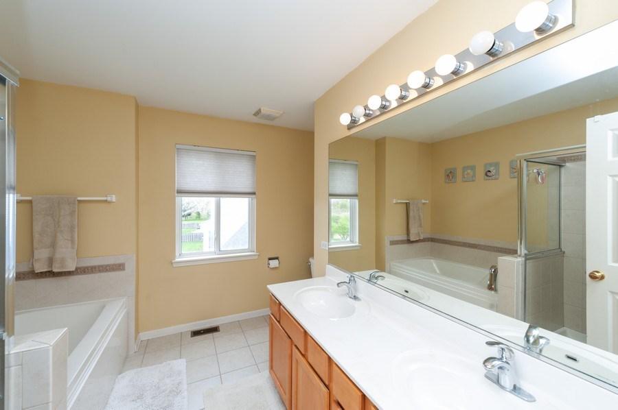 Real Estate Photography - 501 W Cambria Dr, Round Lake, IL, 60073 - Master Bathroom